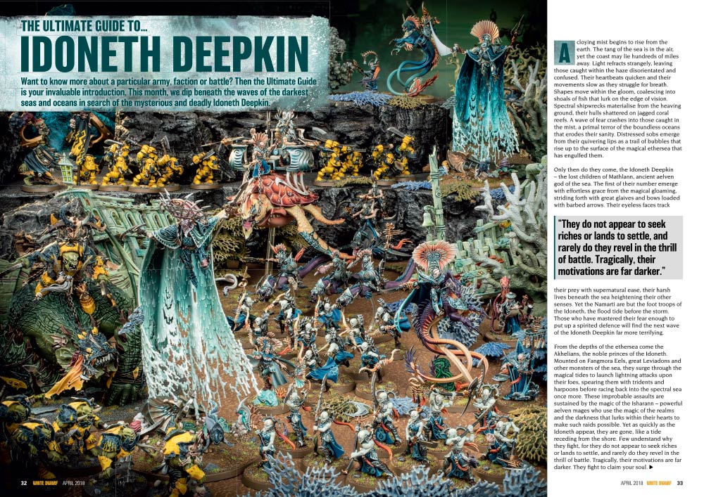Idoneth Deepkin White Dwarf preview