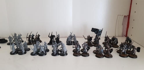 The remainder of the Warriors of Minas Tirith I have to paint at the moment.