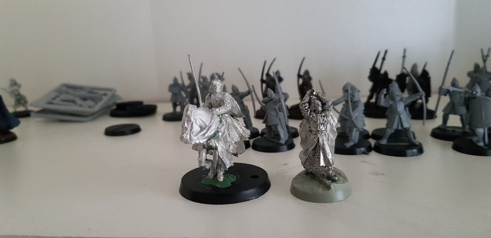 Aragorn, King Elessar has been put together for the coming release, can't wait to paint him and play games with my Minas Tirith army with the new rules!